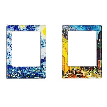 Amazon.com: 2 Pack Magnetic Picture Frames for Refrigerator Fridge ...