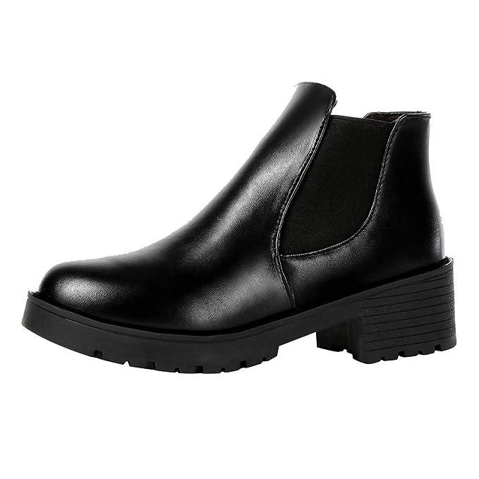 Toamen Botas De Moto para Mujer, con Tobillo Corto, Botas De Moto Martin Zapatos De Cuero: Amazon.es: Ropa y accesorios