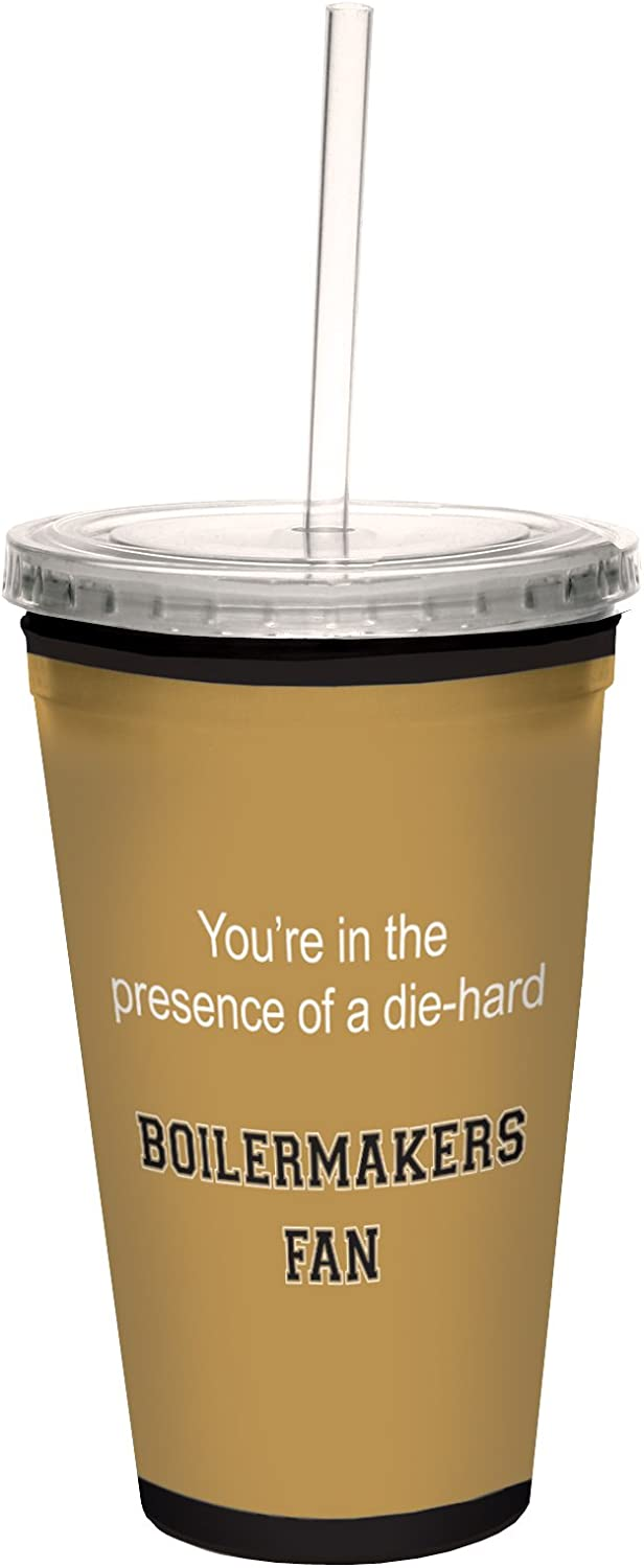Tree-Free Greetings Rattlers College Football Fan Artful Traveler Double-Walled Cool Cup with Reusable Straw 16-Ounce
