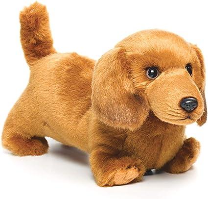 DEMDACO Light Brown Dachshund Childrens Plush Beanbag Stuffed Animal Toy