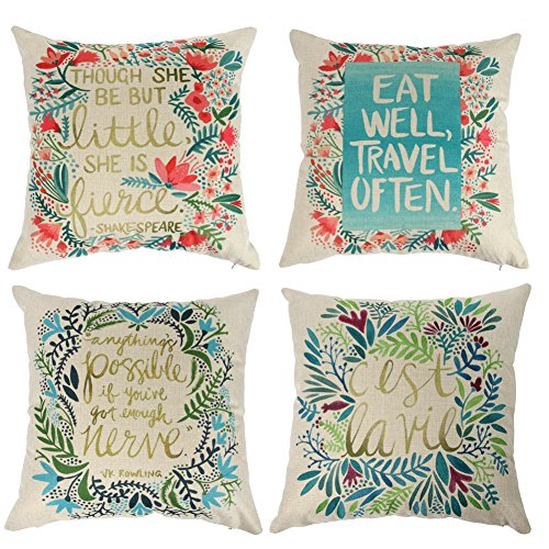 Ogiselestyle Bright Flowers Theme Decorative Throw Pillow Case 18