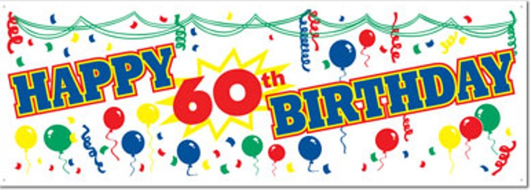 amazon com happy 60th birthday banner sign toys games