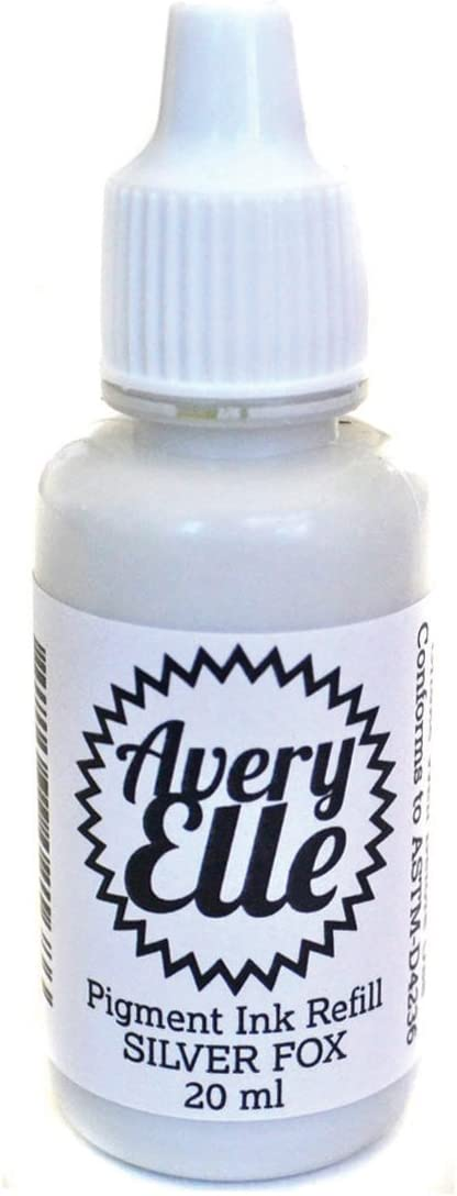 Avery Elle Pigment Ink Refill, Silver Fox