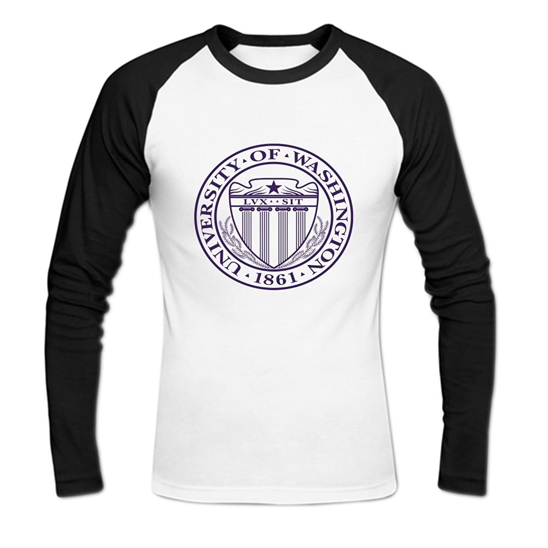 University of Washington logo Mens Baseball Shirts