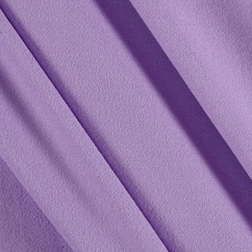Fabric Merchants Double Brushed Solid Jersey Knit - Knit Stretch Purple