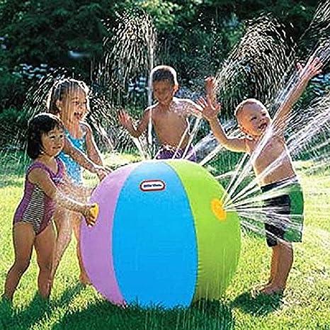 Frontier Al aire libre pelota de playa natación pelota inflable pelota fuente de agua de los niños del verano: Amazon.es: Jardín