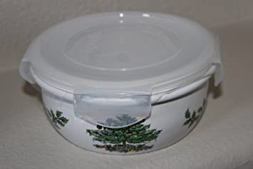Spode Christmas Tree Ceramic Small Storage Container with Lid & Amazon.com: Spode Christmas Tree Ceramic Small Storage Container ...