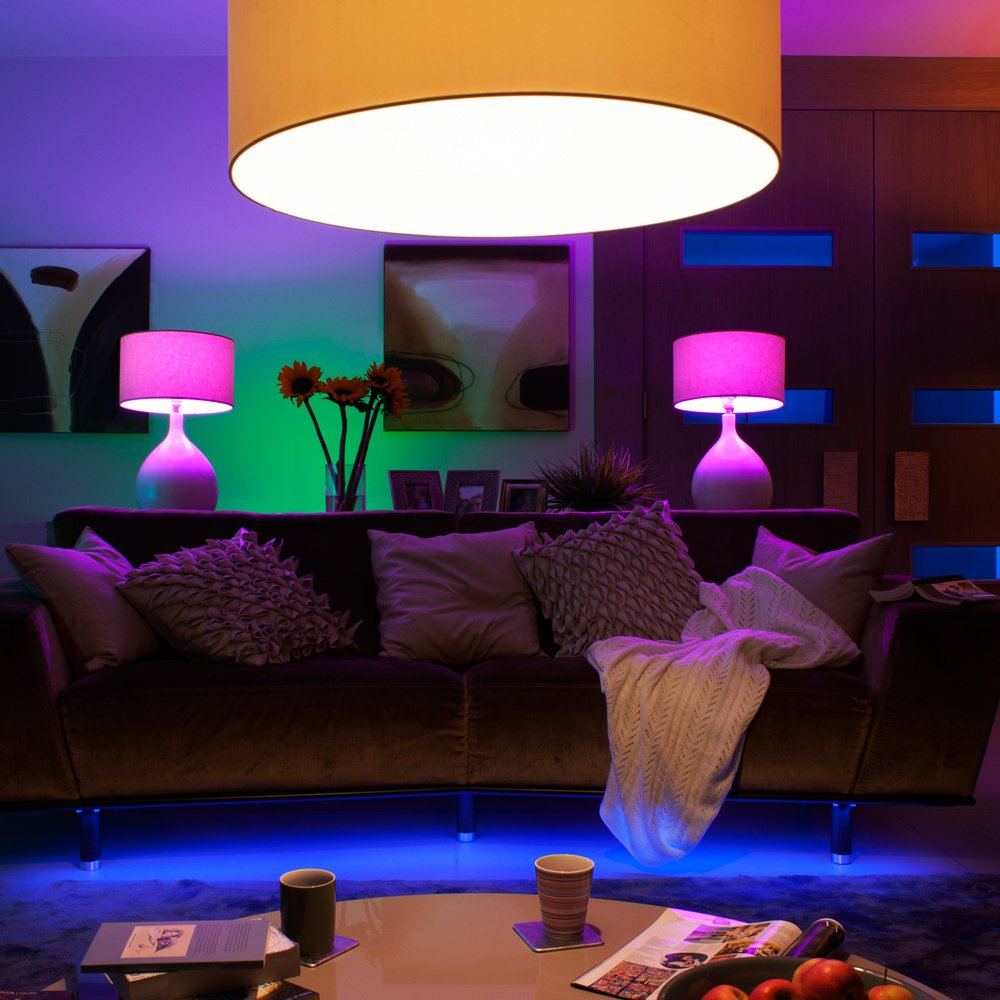 Philips Hue White and Color Ambiance 2nd Generation Smart Bulb Starter Kit (Older Model 3 A19 Bulbs and 1 Hub Works with Alexa Apple HomeKit and Google Assistant) by Philips LED (Image #9)