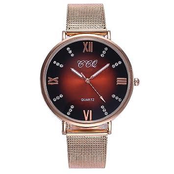 Amazon.com: Pausseo Fashion - Reloj de pulsera para mujer ...