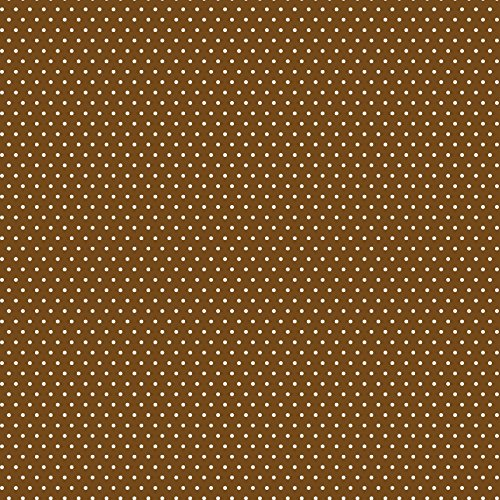 American Crafts Core'dinations 12 Pack of 12 x 12 Inch Patterned Paper Brown Small Dot, ()