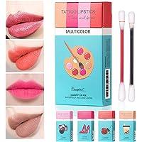 20pcs Lipstick Cotton Swab, Long Lasting Waterproof Disposable Portable Lipstick, Red Moisturizing Lip Balm Lip Stick…
