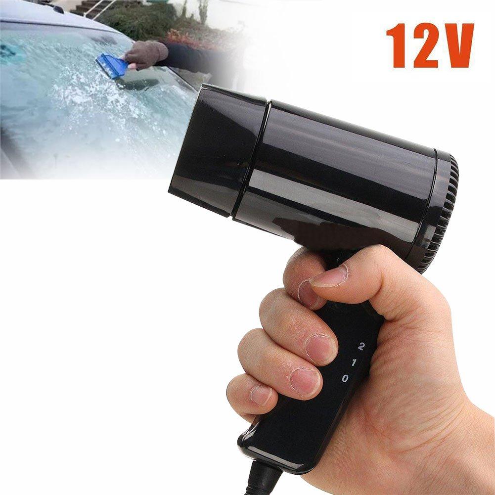 Dxlta portatile 12 V auto caldo e freddo di viaggio pieghevole da campeggio asciugacapelli finestra sbrinatore 1gv1xe6ny6bm4gc5