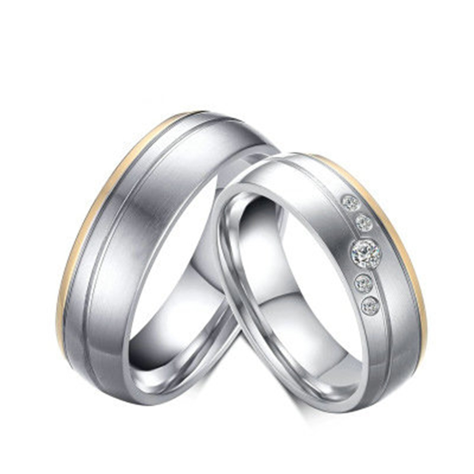 Beydodo 1PCS Stainless Steel Ring 9 Matte Finished 6MM Width Wedding Rings Mens Love Ring Band