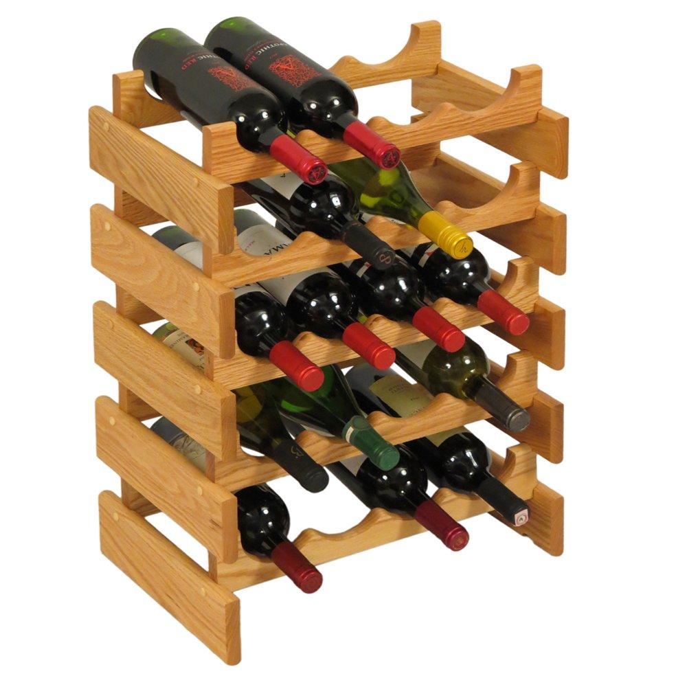 Wooden Mallet 20 Bottle Dakota Wine Rack, Light Oak by Wooden Mallet (Image #1)