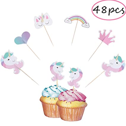CCINEE - Juego de 48 palillos para decoración de cupcakes y ...