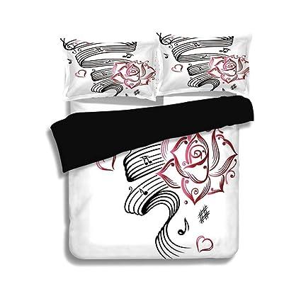 Amazon com: Black Duvet Cover Set Queen Size,Tattoo Decor