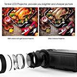 Projector by TENKER Q5 with 1500 Lumens LED Mini Projector Support 1080P HDMI USB TF VGA AV, Multimedia Home Theater LCD Video Projector, Black