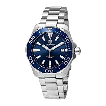 19a228bb70a Image Unavailable. Image not available for. Color: Tag Heuer Aquaracer Blue Dial  Mens Watch ...