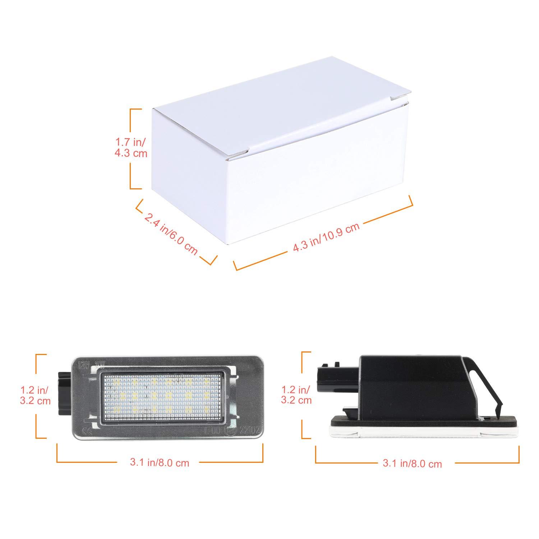 Luces de matr/ícula OZ-LAMPE 2pcs 18 Luces de matr/ícula de licencia LED 2835 SMD Compatible con Nissa-n Serena c27 2016-2019