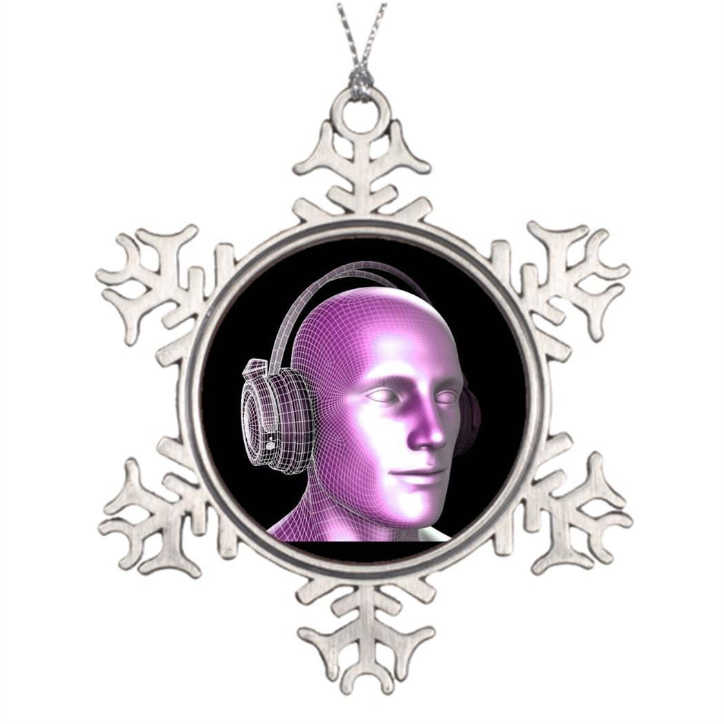 Sedlockyvq Sedlockyvq Personalised Christmas Tree Decoration Creative Music and Dream State Technology as Art Vintage Glass Christmas Snowflake Ornaments