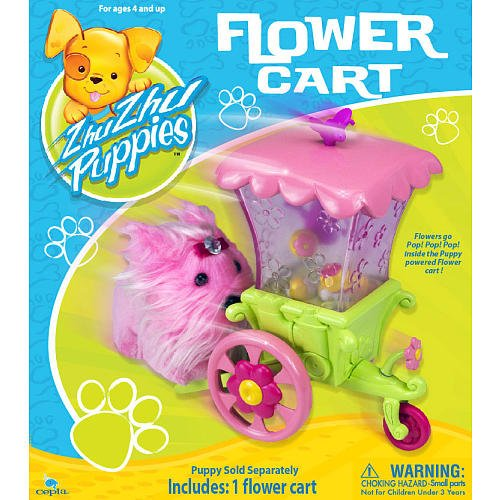 Zhu Zhu Puppies Playset Flower Cart Puppies Not Included!