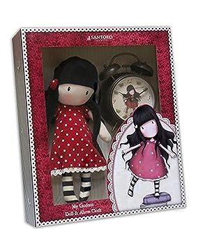 Gorjuss Set de regalo con muñeca y reloj despertador New Heights