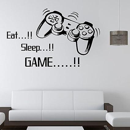 Beautyjourney manger dormir jeu mur autocollants garçons chambre lettre bricolage enfants chambres décoration mur décalcomanies art