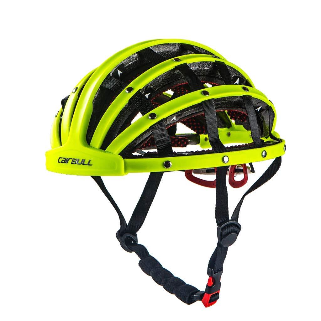 Meidexian888 Foldable Bicycle Helmet for Women/Men,Bike Folding Ultralight Unisex Cycling Helmets 56-62cm (Green)