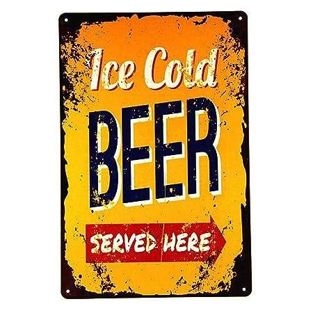 MiMiTee Ice Cold Beer Served Here Cartel De Chapa Placa ...