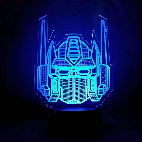 Night Light Acrylic Lamp LED Transformers Mask Logo Home Deco Xmas Gift Kids Toy