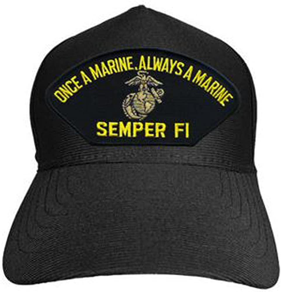 Once a Marine Black Always a Marine Semper Fi Baseball Cap