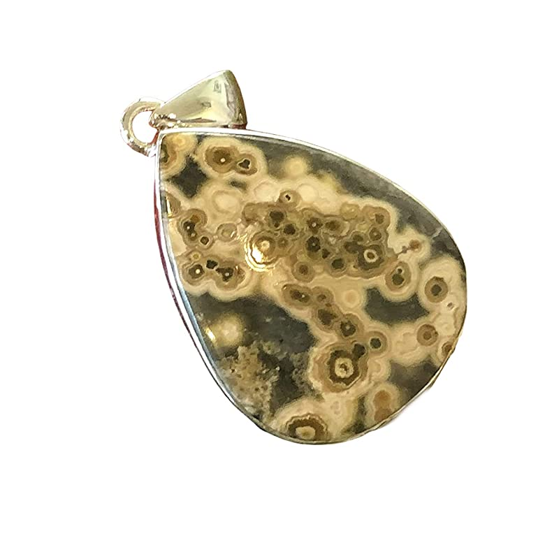 choose chain or leather cord sterling silver bail morrisonite jasper necklace for men and women one of a kind Oregon picture jasper