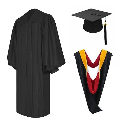 3a3886e9f01 Amazon.com  Annhiengrad Unisex Deluxe Black Bachelor Graduation Gown ...