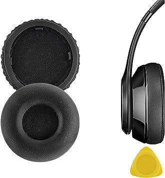 Geekria QuickFit - Almohadillas de piel proteica para auriculares inalámbricos Beats By Dr. Dre (Solo Bluetooth), almohadillas de repuesto para auriculares, almohadillas de repuesto (Negro): Amazon.es: Electrónica