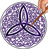 Purple Celtic Trinity Knot Mandalynth: A Focus Tool for Stress Relief, Meditation and Mental Exercise