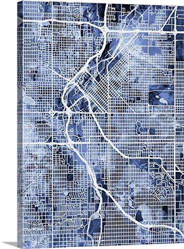 Michael Tompsett Denver Colorado Street Map