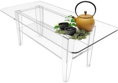 FixtureDisplays All Clear Coffee Table Plexiglass Frame Glass Tops 14695 14695