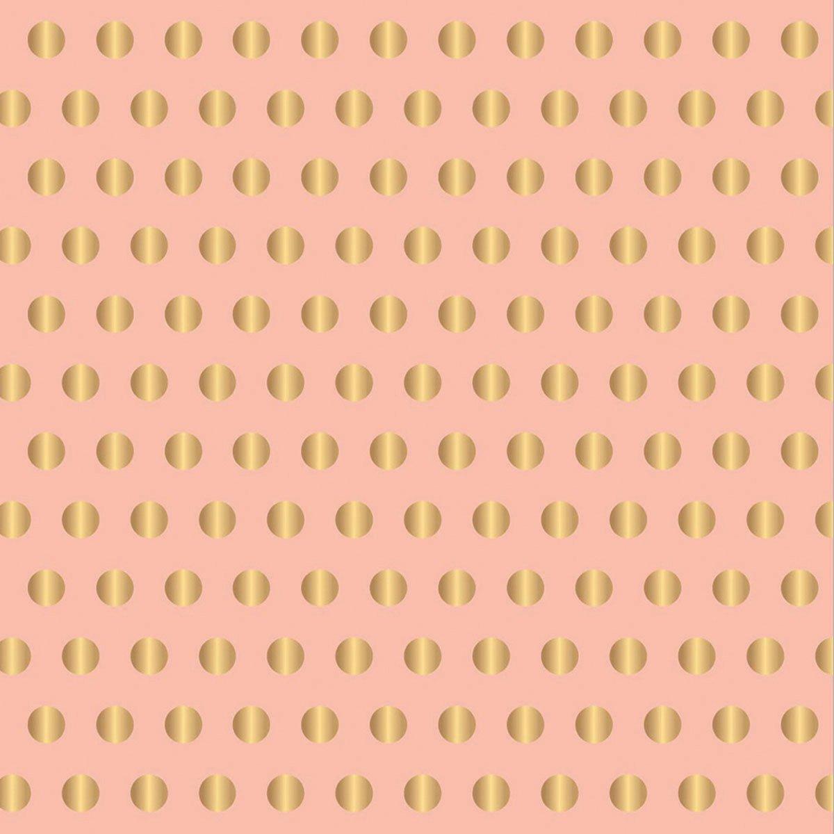 American Crafts コテージ リビングアクセント カードストック 12 x 12 ピンク 金箔ドット付き B00TLUD9GC