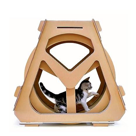 DJLOOKK Cato con Rascador Rascador de Gato de Noria corrugada para Gatos de Menos de 10