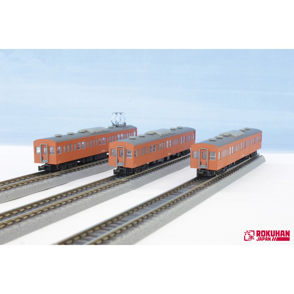 ロクハン Zゲージ T022-8 国鉄 103系 オレンジ 中央線タイプ 3両 増結セット B016EKR82C