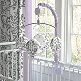 Carousel Designs Lilac and Gray Traditions Damask Mobile