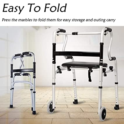 Amazon.com: Andador con 2 ruedas, aleación de aluminio ...