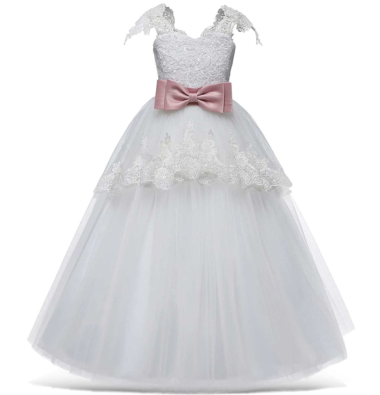 23c3375664e4 NNJXD Girls Princess Pageant Dress Kids Prom Ball Gowns Wedding ...