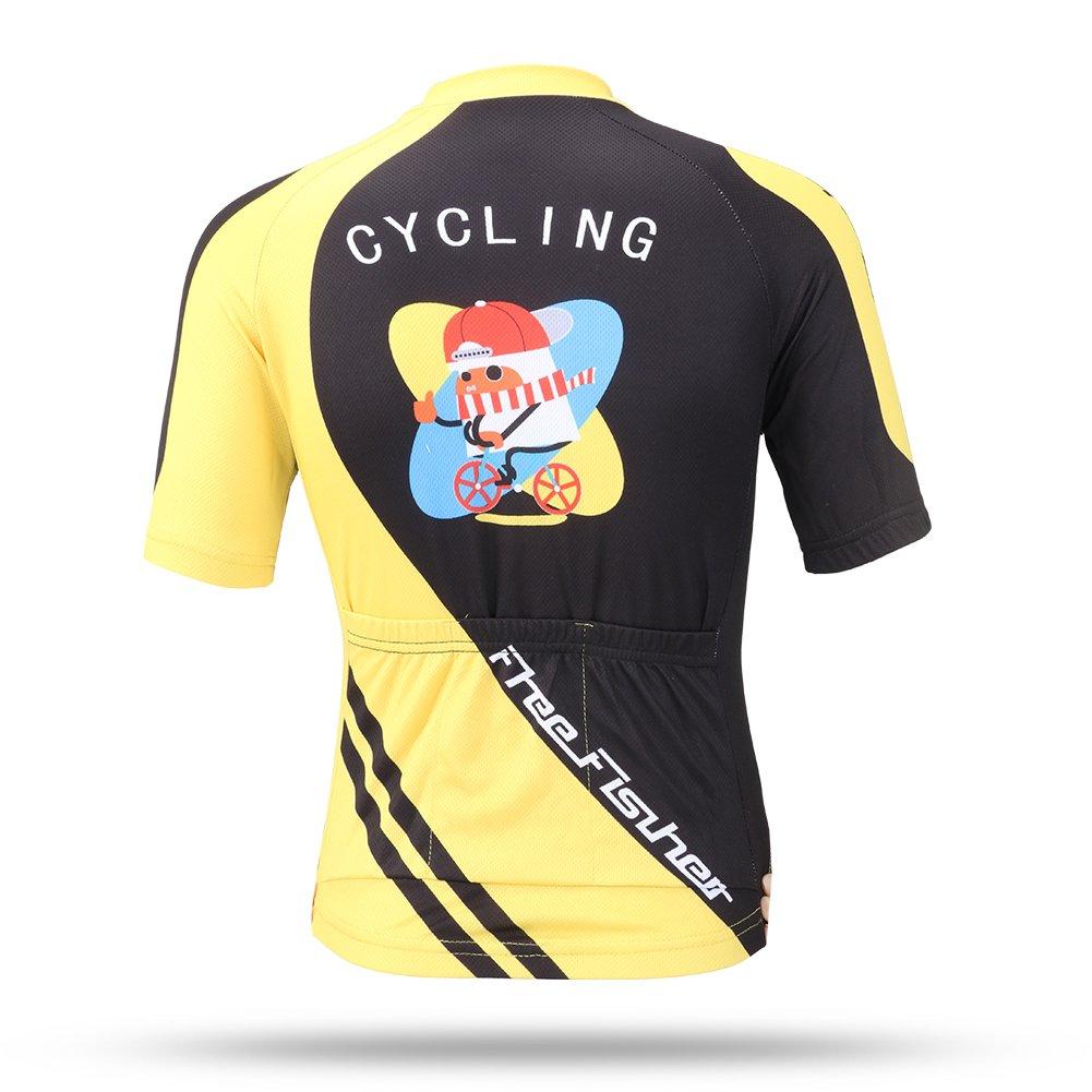 FREE FISHER Kids Boys Girls Short Sleeve Cartoon Cycling Jersey Set//Top//Short
