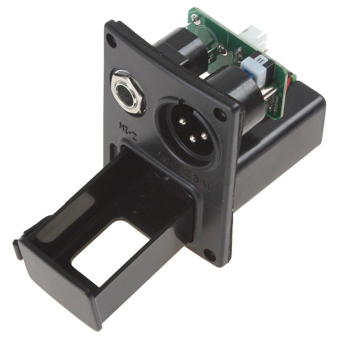 OriGlam 5 bandas de ecualizacion pre AMP Equalizer Pickup, guitarra electrica y acustica preamplificador con afinador afinador pantalla LCD y control de ...