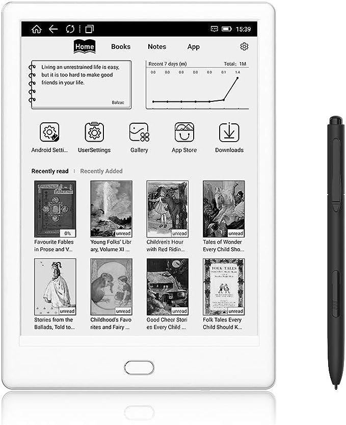 Likebook Muses E-Reader - Blanco, Pantalla Táctil de 7,8