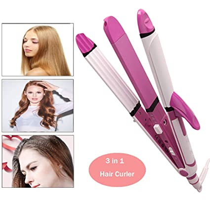 Curling Tongs 3 in 1 Hair Curling Wand Plancha de cabello ...