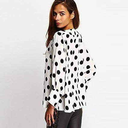 Camisas Mujer Manga Larga Bloque de Color Casual Blusas Tops del Camisetas: Amazon.es: Ropa y accesorios