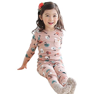 d9b84ebe5 Kids Toddler Pajamas Set Tops + Pants Boys Girls Sleepwear Homewear ...