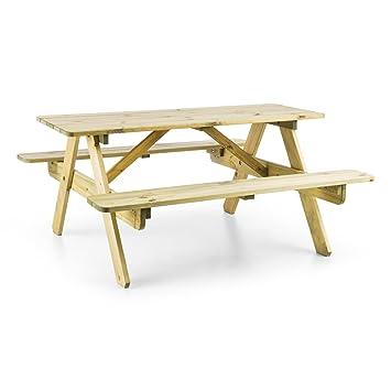 Blumfeldt Table De Pique Nique Banc Meuble Jardin Pour Enfants